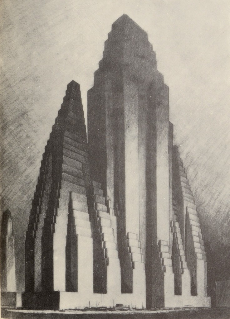 The Metropolis of Tomorrow by Hugh Ferriss